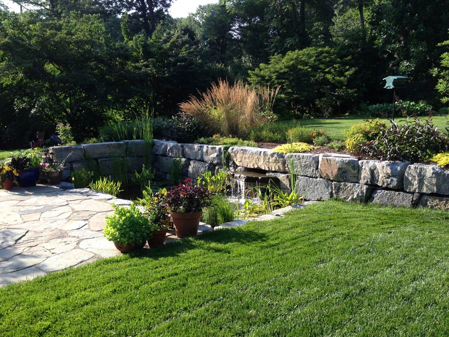 Custom hardscape stonework and masonry designs for Garden design service