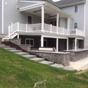 Media PA Hardscape Walkway and Patio installation
