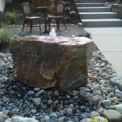 Stone Bubbler Water Feature