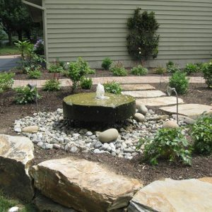 Hardscape with Bubbler Fountain