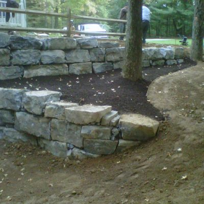 Custom Stone Retaining Wall