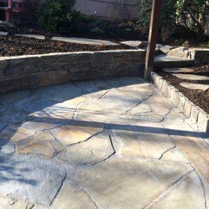Custom Stone Patio in Glen Mills PA