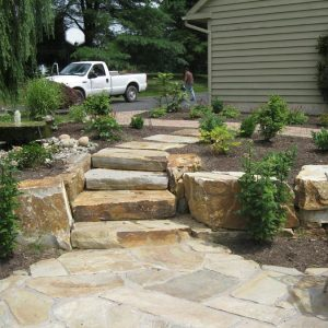 Custom Stone Staircase