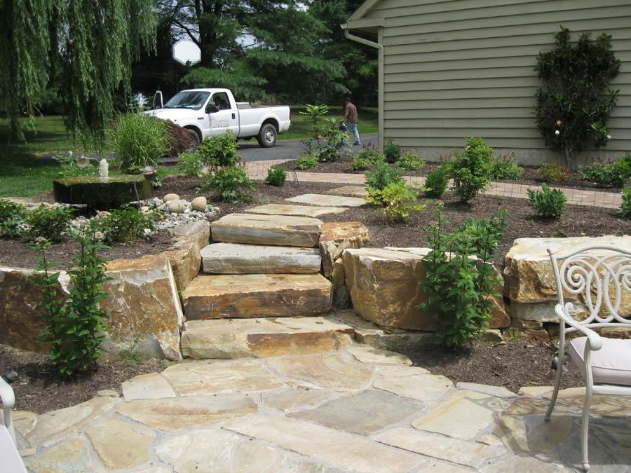 Custom hardscape stonework and masonry designs for Garden design mill valley