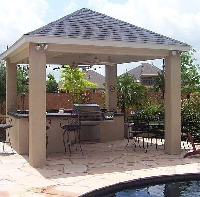 Media PA Poolside Hardscape Covered Porch