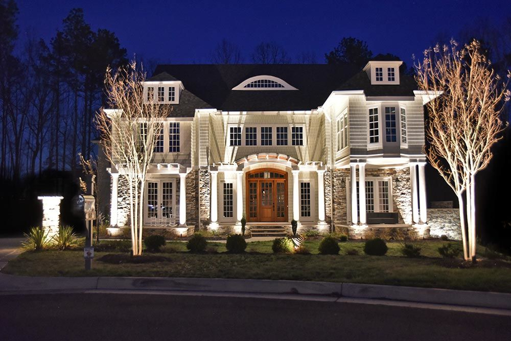 Nightscape landscape lighting service for outdoor safety curb appeal outdoor home lighting aloadofball Image collections