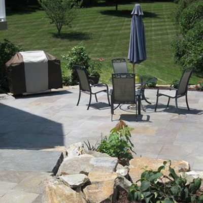 Custom Stone Patio Installation