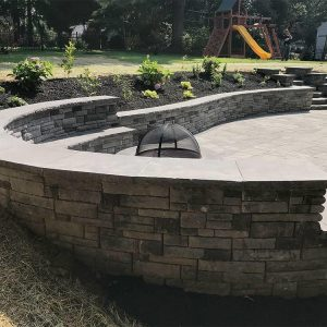 Custom Stone Backyard Firepit