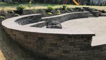Custom Stone Backyard Firepit
