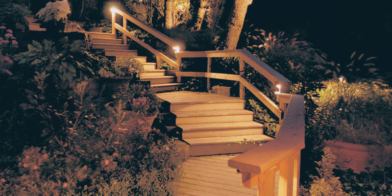 Deck Post Lighting Idea