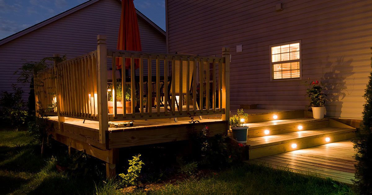 Picture of: 8 Best Outdoor Deck Lighting Ideas Beauty Safety And Security