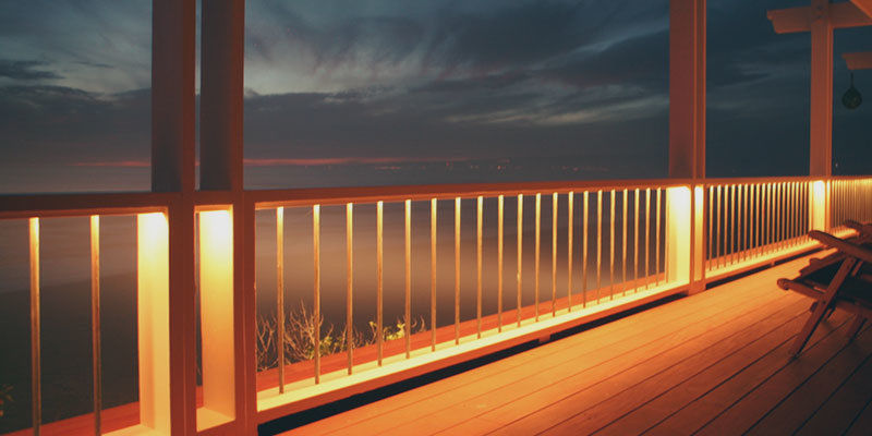 Railing Deck Lighting Ideas