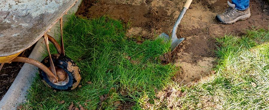 Dig Grass Landscape Grading