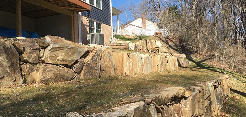 Featured Project of Backyard Slope and Patio in West Chester, PA