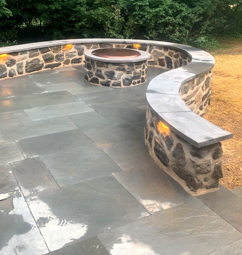 Custom Patio with Fire Pit Media, PA