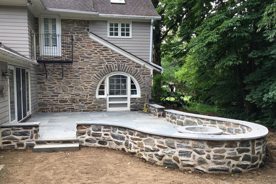 After-Custom Patio and Stonework in Media, PA